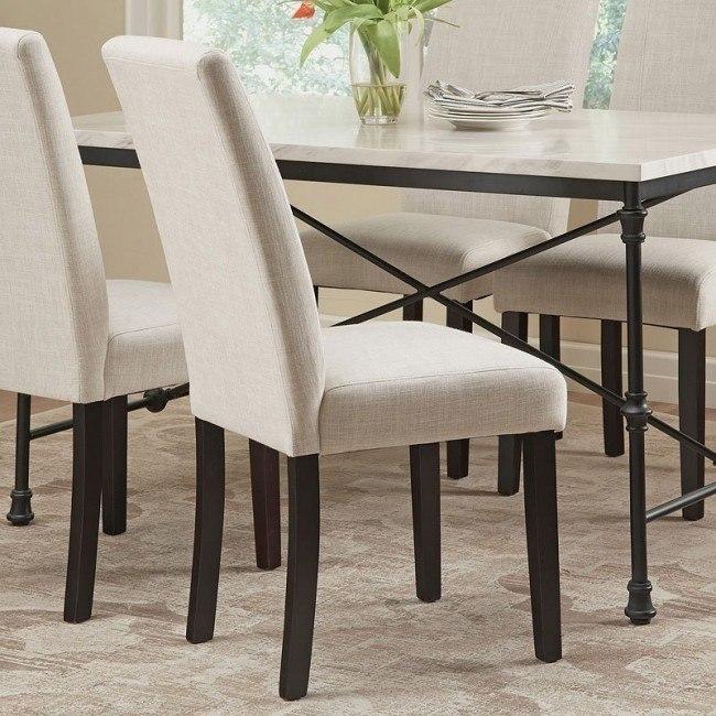 Brilliant Commercial Grade Parsons Chair Ivory Set Of 2 Dailytribune Chair Design For Home Dailytribuneorg
