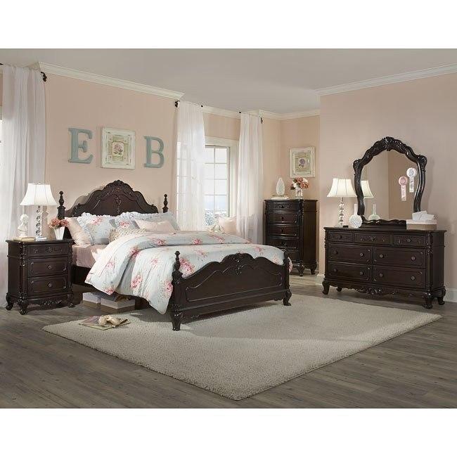 Ashley Furniture In Woodbridge Nj: Cinderella Bedroom Set (Cherry) Homelegance