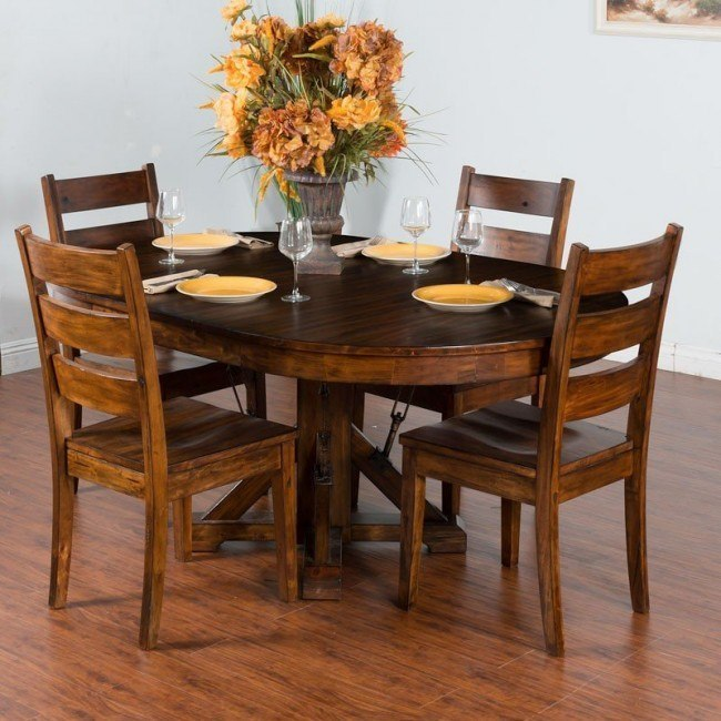 Tuscany Oval Extension Dining Room Set Sunny Designs