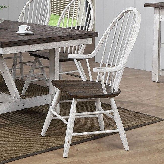 Farmhouse Windsor Back Arm Chair Set