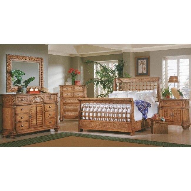 Palm Court Sleigh Bedroom Set Island Pine Progressive Furniture Furniture Cart
