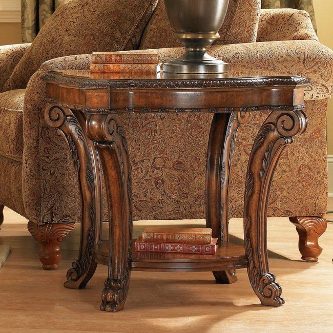 Swell Old World Rectangular End Table Machost Co Dining Chair Design Ideas Machostcouk