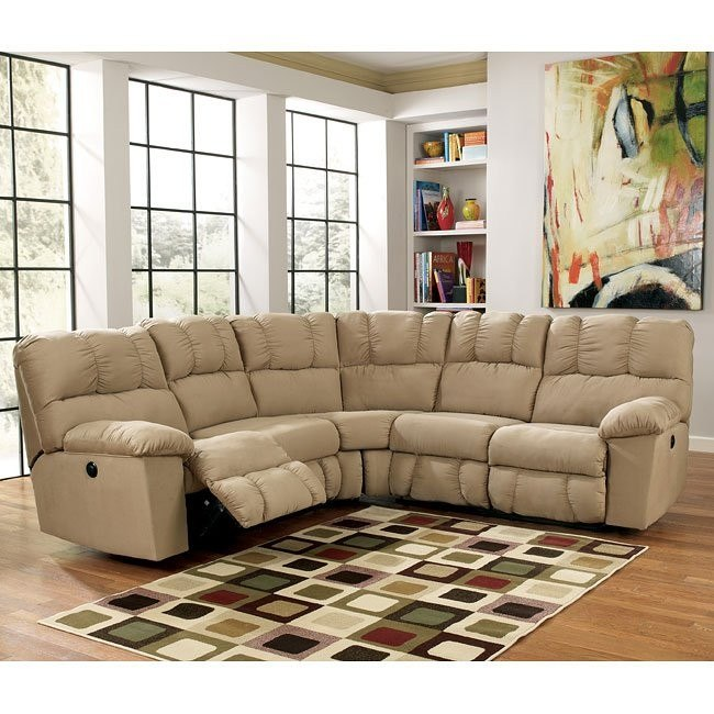 Groovy Lakesha Taupe Power Reclining Sectional Pdpeps Interior Chair Design Pdpepsorg