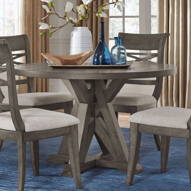 Beckman Grey Round Dining Table