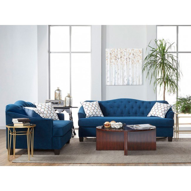 15700 Series Bing Indigo and Duval Party Living Room Set