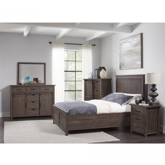 madison county panel bedroom set barnwood jofran