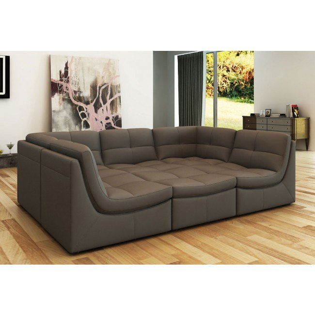 Lego 6 Piece Modular Sectional Grey