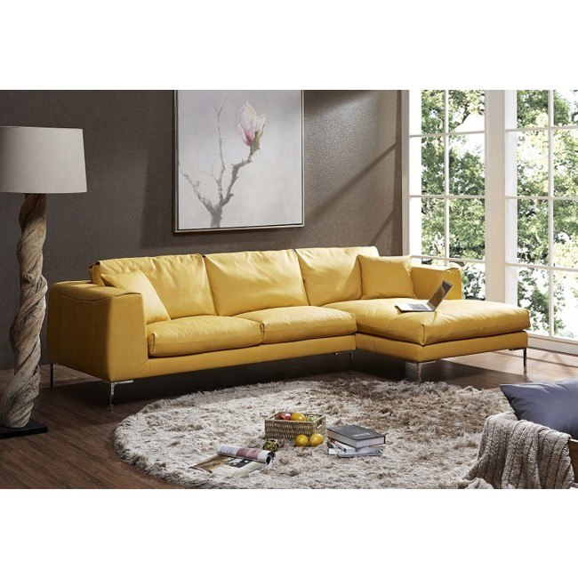 Astounding Soleil Premium Leather Right Chaise Sectional Ocoug Best Dining Table And Chair Ideas Images Ocougorg