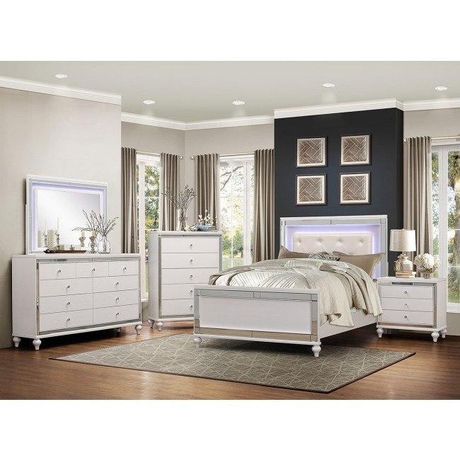 Bedroom Set W Led Lighting Homelegance