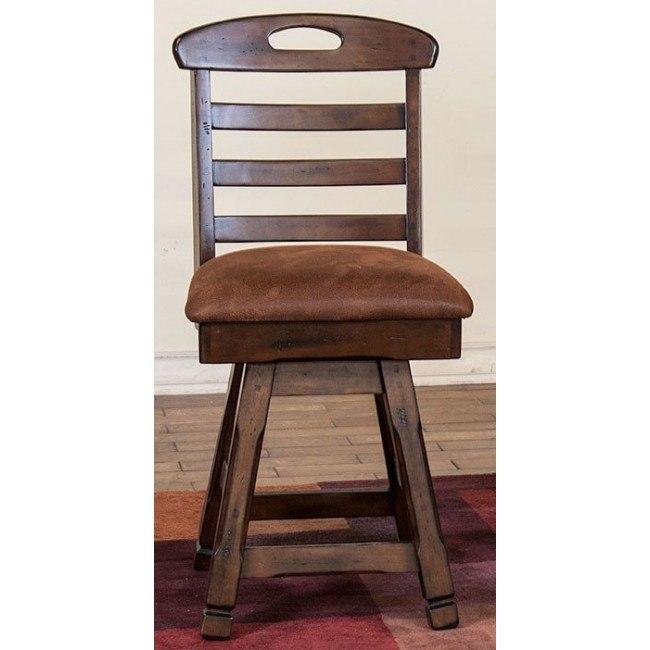 Excellent Santa Fe 24 Inch Swivel Ladderback Barstool Uwap Interior Chair Design Uwaporg