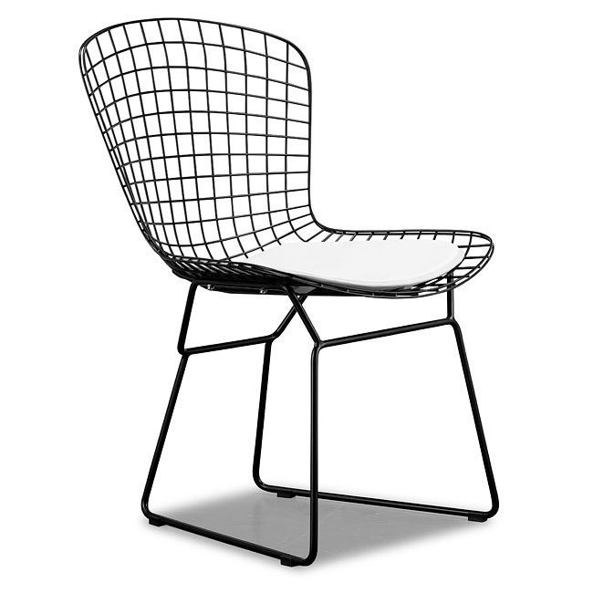 Admirable Wire Dining Chair Black Set Of 2 Creativecarmelina Interior Chair Design Creativecarmelinacom