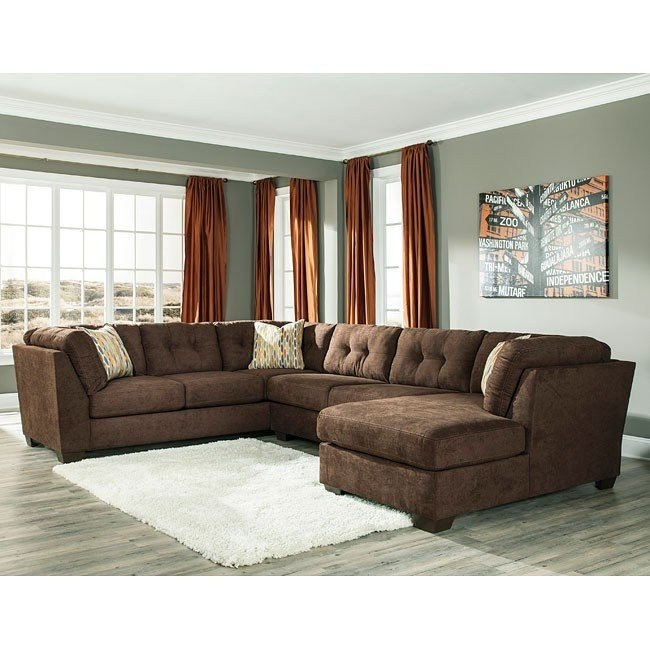 Superb Delta City Chocolate Right Chaise Sectional Beatyapartments Chair Design Images Beatyapartmentscom
