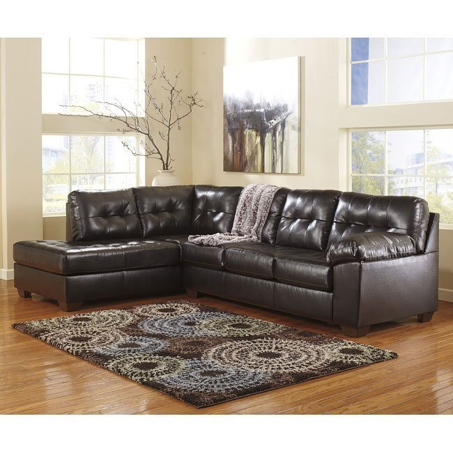 Groovy Alliston Durablend Chocolate Sectional W Left Chaise Gmtry Best Dining Table And Chair Ideas Images Gmtryco