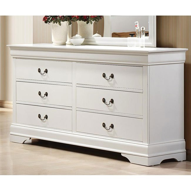 Louis Philippe Dresser White Coaster