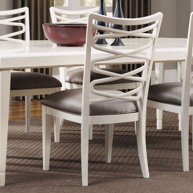 Excellent Cosmopolitan Ribbon Side Chair Parchment Set Of 2 Short Links Chair Design For Home Short Linksinfo