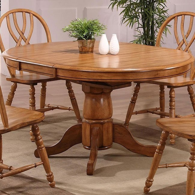 Missouri Round Dining Table Rustic Oak