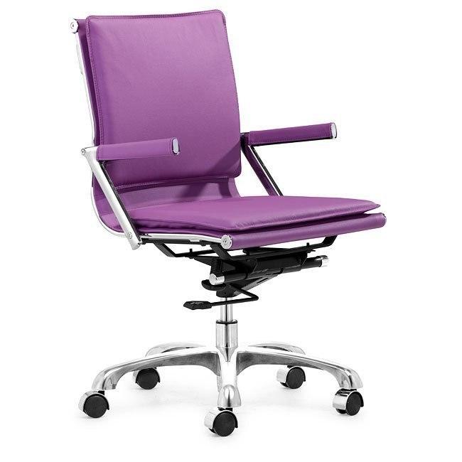 Lider Plus Office Chair Purple Zuo