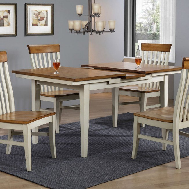 Pleasant Lancaster Rectangular Dining Table Antique White Rustic Squirreltailoven Fun Painted Chair Ideas Images Squirreltailovenorg