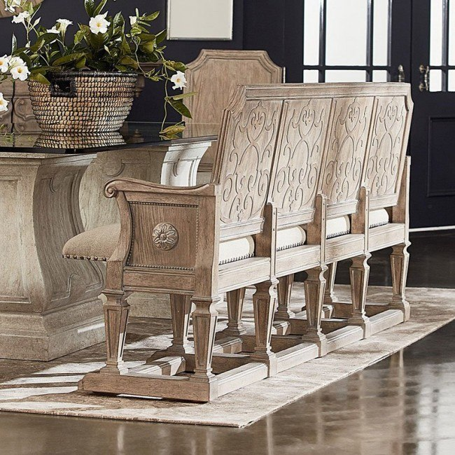 Arch Salvage Becket Dining Bench Parch Art Furniture Furniture Cart