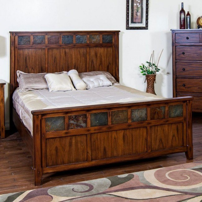 Santa Fe Petite Panel Bed Sunny Designs Furniture Cart