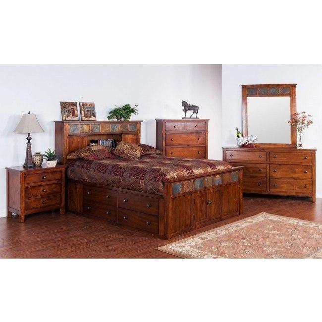 Santa Fe Petite Bookcase Bedroom Set Sunny Designs Furniture Cart