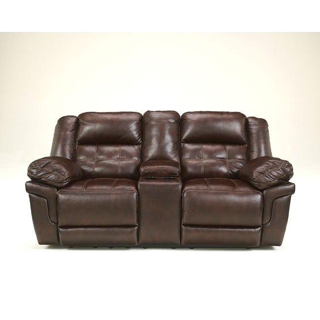Stupendous Randon Mahogany Double Recliner Loveseat Alphanode Cool Chair Designs And Ideas Alphanodeonline