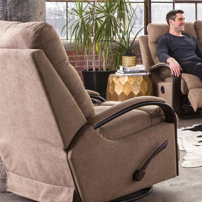 Terrific Jansen Swivel Glider Recliner Tumbleweed Dailytribune Chair Design For Home Dailytribuneorg