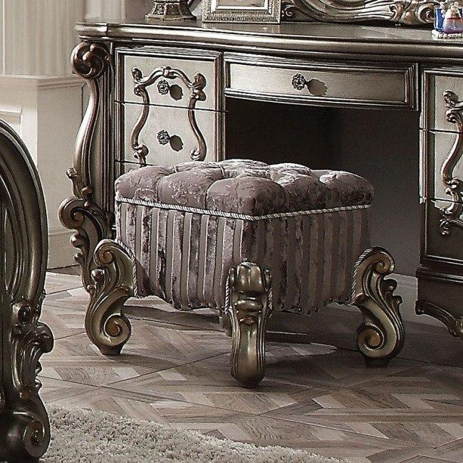 Awe Inspiring Versailles Vanity Stool Antique Platinum Unemploymentrelief Wooden Chair Designs For Living Room Unemploymentrelieforg