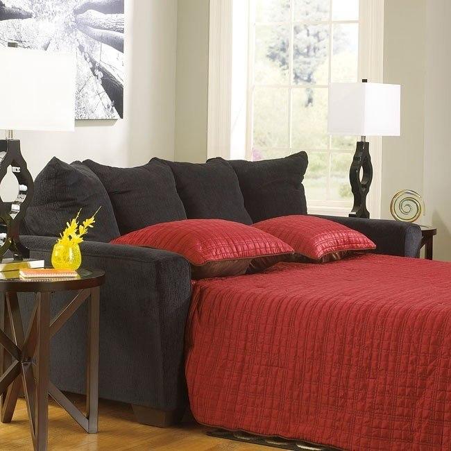 Astonishing Brogain Ebony Queen Sofa Sleeper Pdpeps Interior Chair Design Pdpepsorg