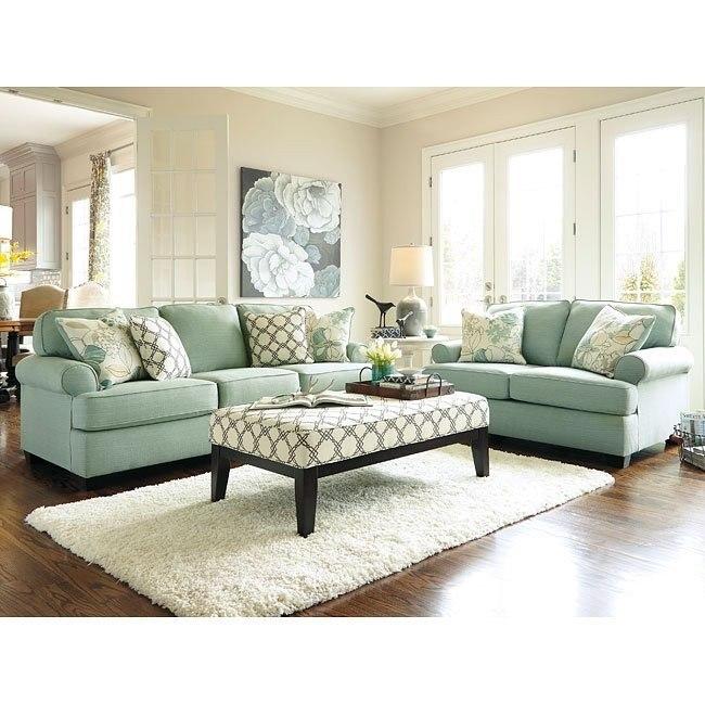 Ashley Living Room Sets.Daystar Seafoam Living Room Set