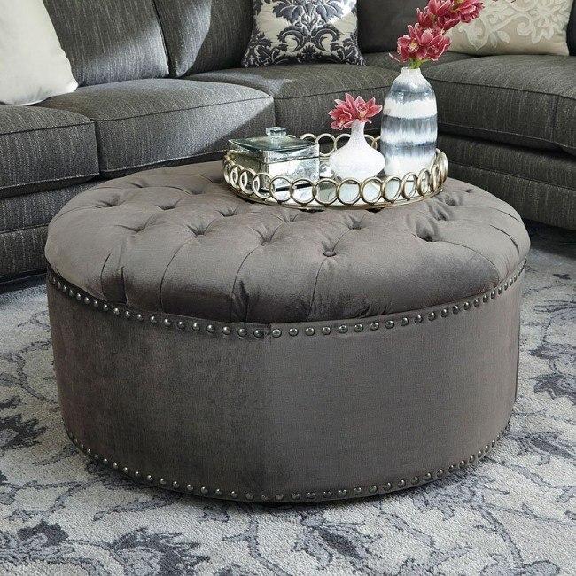 Stupendous Kittredge Graphite Oversized Accent Ottoman Alphanode Cool Chair Designs And Ideas Alphanodeonline