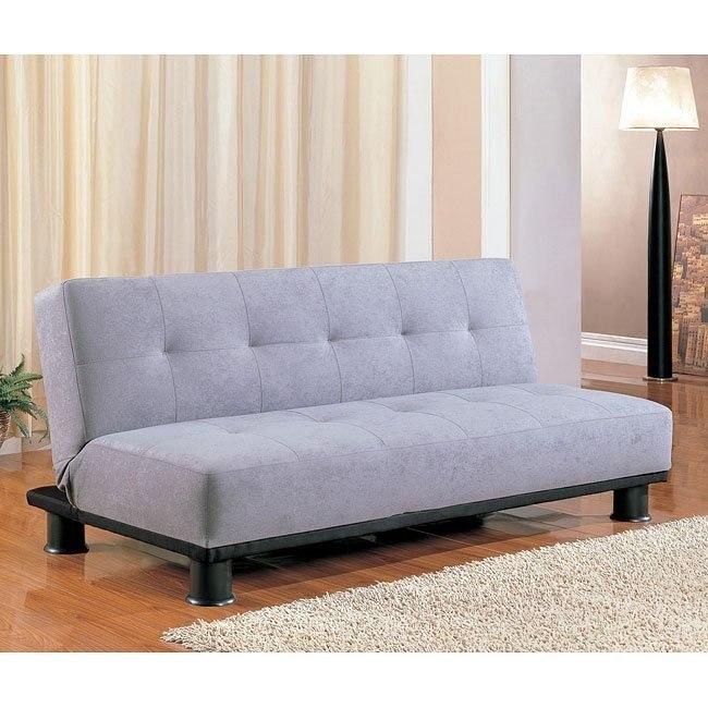 Contemporary Armless Sofa Bed Gray