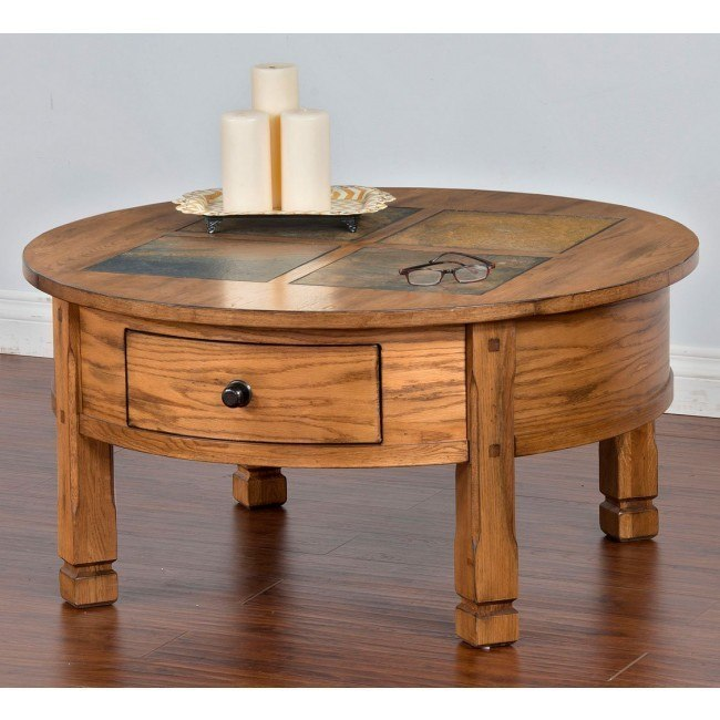 Sedona Slate Top Round Coffee Table