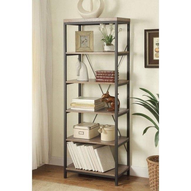 Daria 26 Inch Width Bookcase Homelegance | Furniture Cart