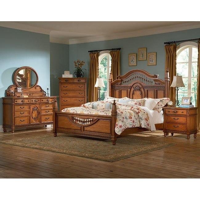Southern Heritage Chestnut Spindle Bedroom Set
