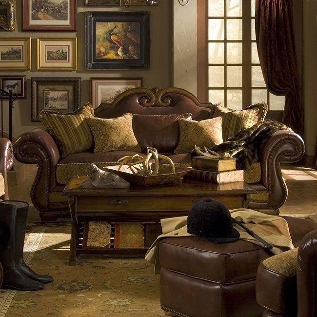 Tuscano Leather Fabric Sofa Spice Aico Furniture Furniture Cart