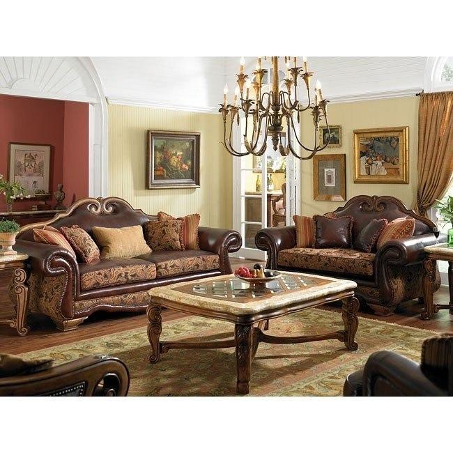 Tuscano Living Room Set Brick Aico Furniture Furniture Cart