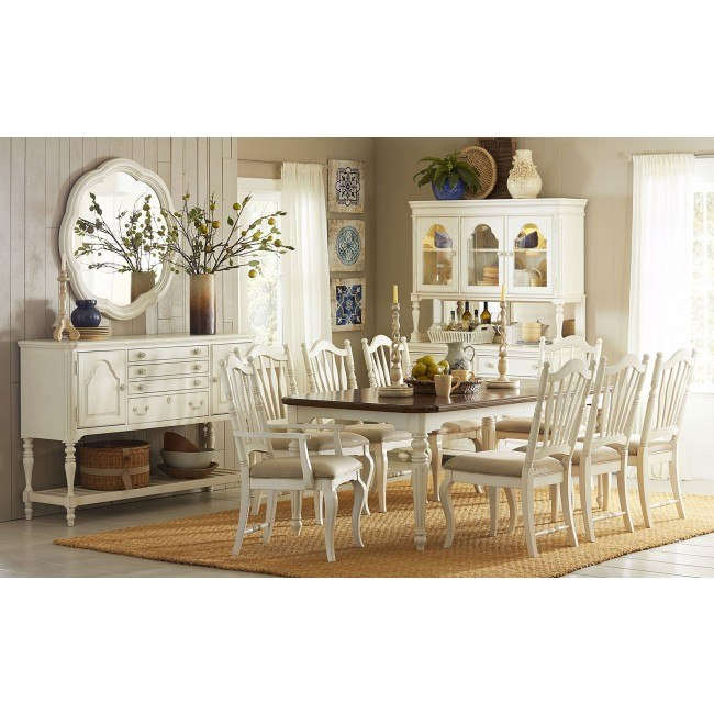 Haven Rectangular Dining Room Set (Buttercream White)