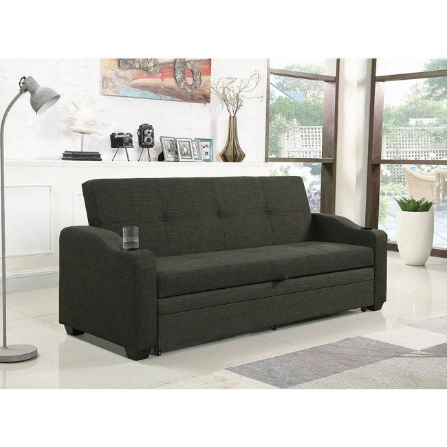 Phenomenal Charcoal Grey Sofa Bed W Pull Out Sleeper Evergreenethics Interior Chair Design Evergreenethicsorg