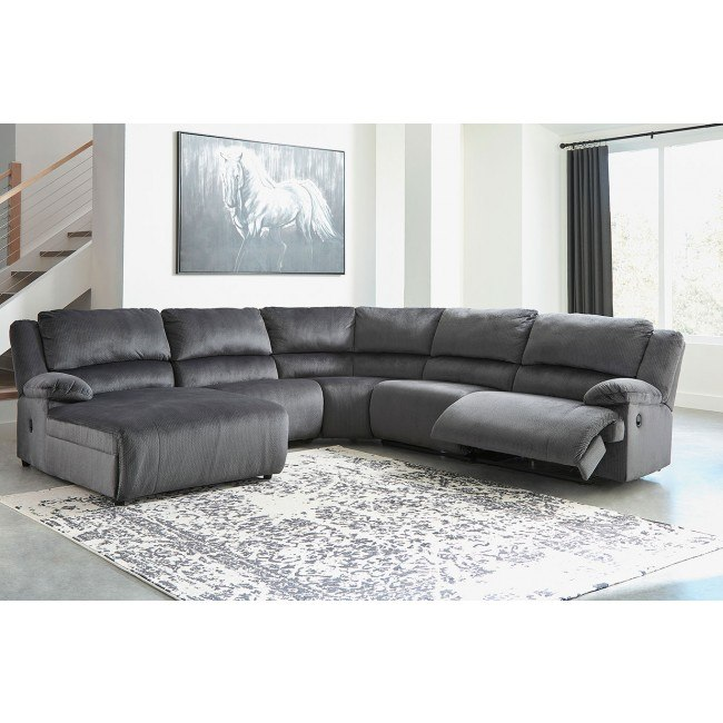 Clonmel Charcoal Modular Reclining Sectional