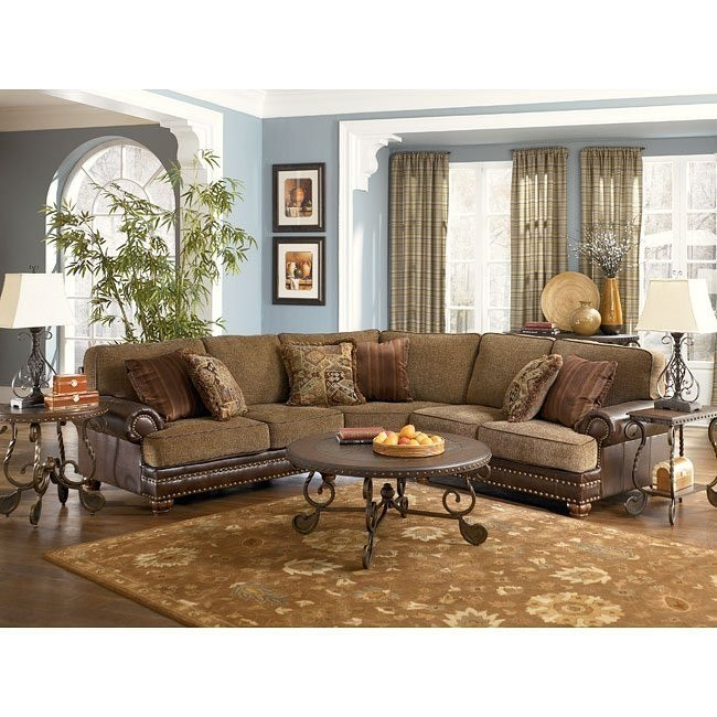 Hartford - Walnut Sectional Living Room Set