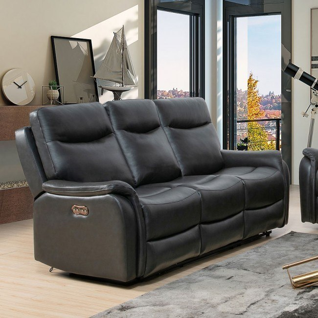 Miraculous Seymour Power Reclining Sofa W Power Headrest Gray Caraccident5 Cool Chair Designs And Ideas Caraccident5Info