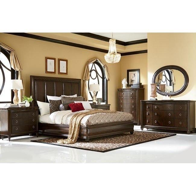 Bob Mackie Home Upholstered Bedroom Set American Drew Furniture Cart