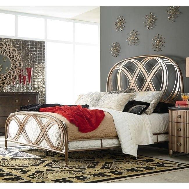 Bob Mackie Home Metal Panel Bed