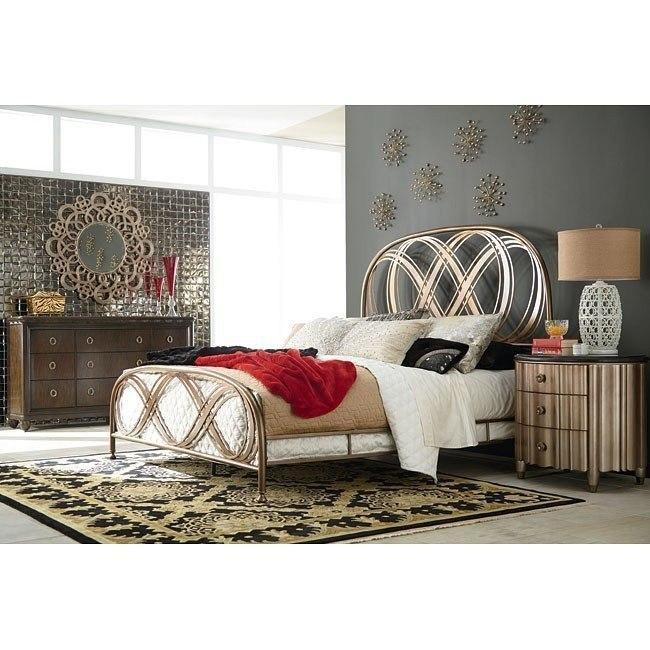 Bob Mackie Home Metal Panel Bedroom Set American Drew ...