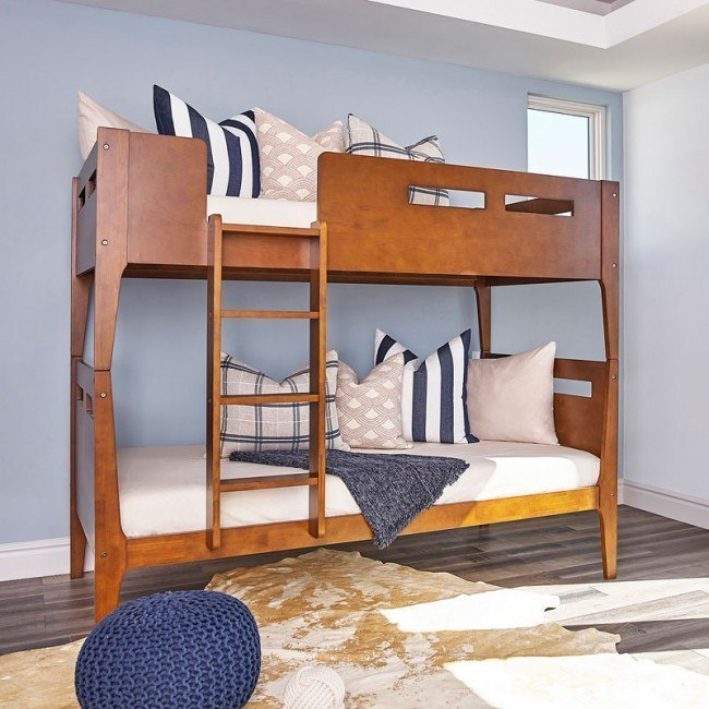 Livermore Twin Over Twin Bunk Bed Coaster Furniture Furniture Cart