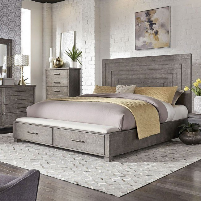 Modern Farmhouse Storage Bed Liberty Furniture Furniture Cart