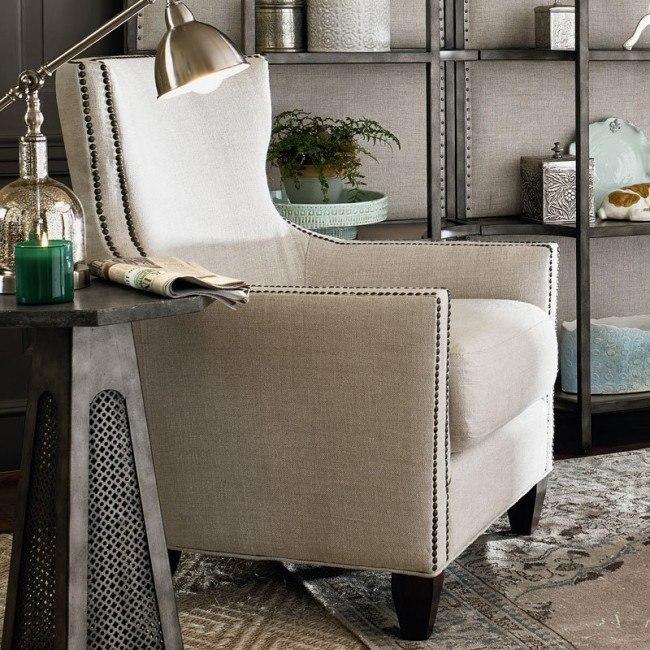 Awe Inspiring Barrister Accent Chair Belgian Linen Short Links Chair Design For Home Short Linksinfo