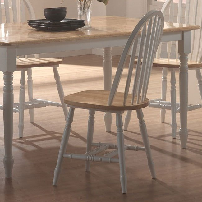 Fabulous Damen Spindle Back Side Chair Natural White Set Of 4 Alphanode Cool Chair Designs And Ideas Alphanodeonline
