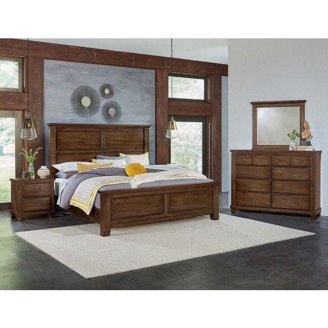 American Cherry Mansion Bedroom Set (Chestnut)